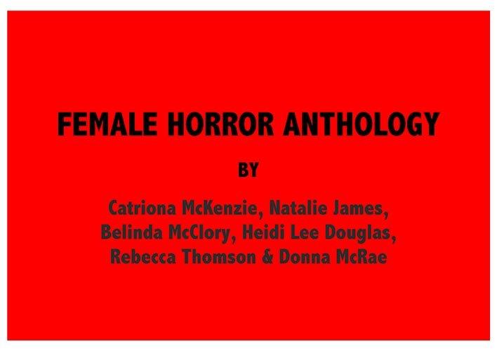 FEMALE HORROR ANTHOLOGY
